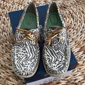 Sperry Top-Sider Bluefish Brown Zebra Boat Shoe